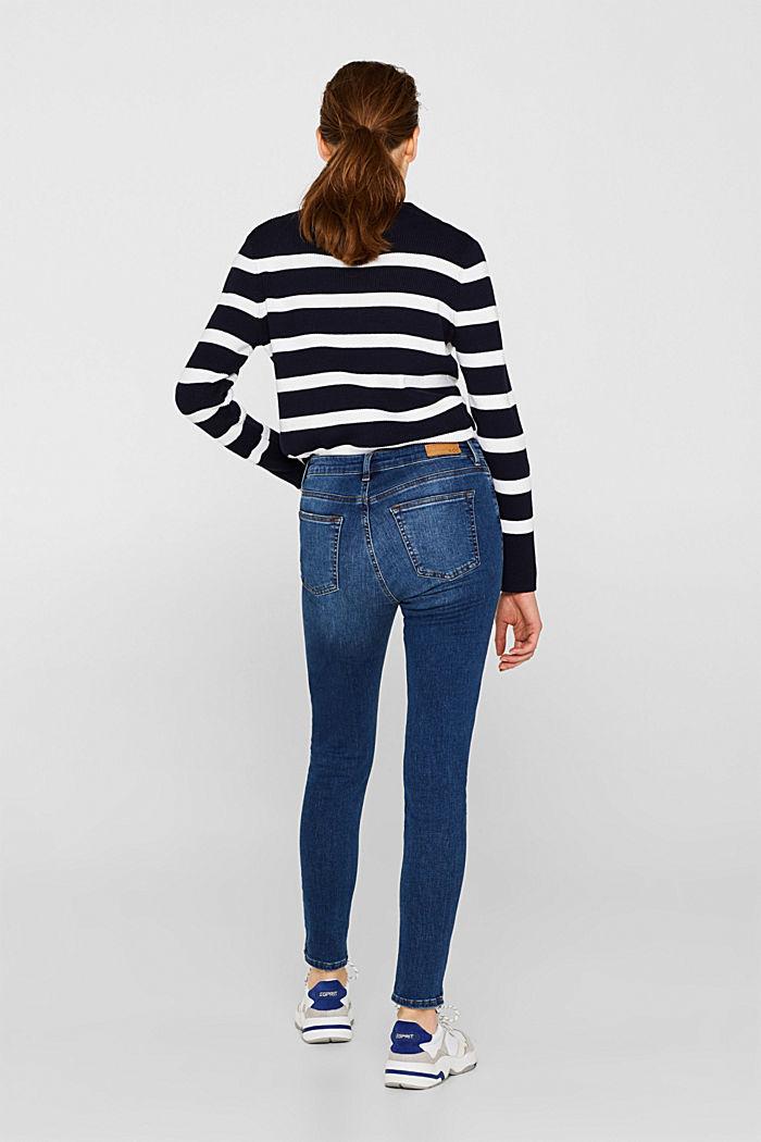 Ankle-length stretch jeans, BLUE MEDIUM WASHED, detail image number 3