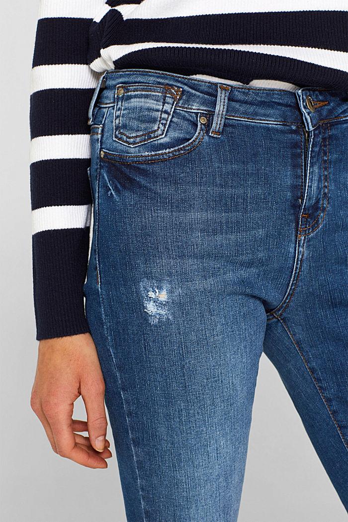 Ankle-length stretch jeans, BLUE MEDIUM WASHED, detail image number 2