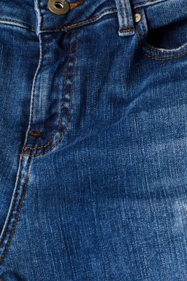 Ankle-length stretch jeans