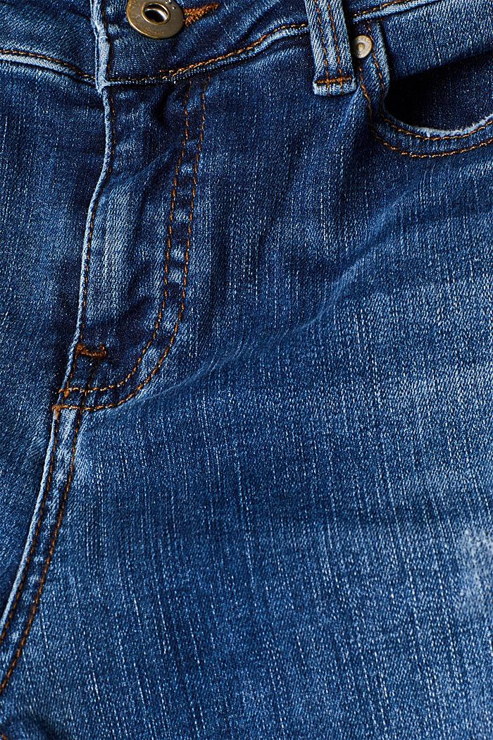 Ankle-length stretch jeans, BLUE MEDIUM WASHED, detail image number 4