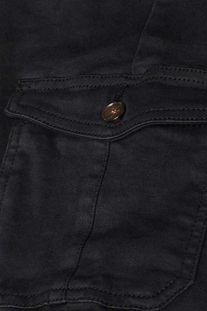 Shaping jeans with cargo pockets, BLACK, detail image number 4