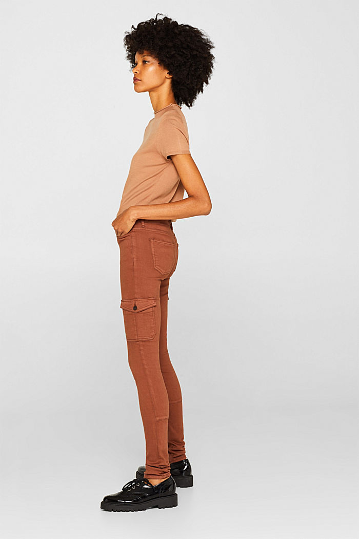 Shaping jeans with cargo pockets, CAMEL, detail image number 0