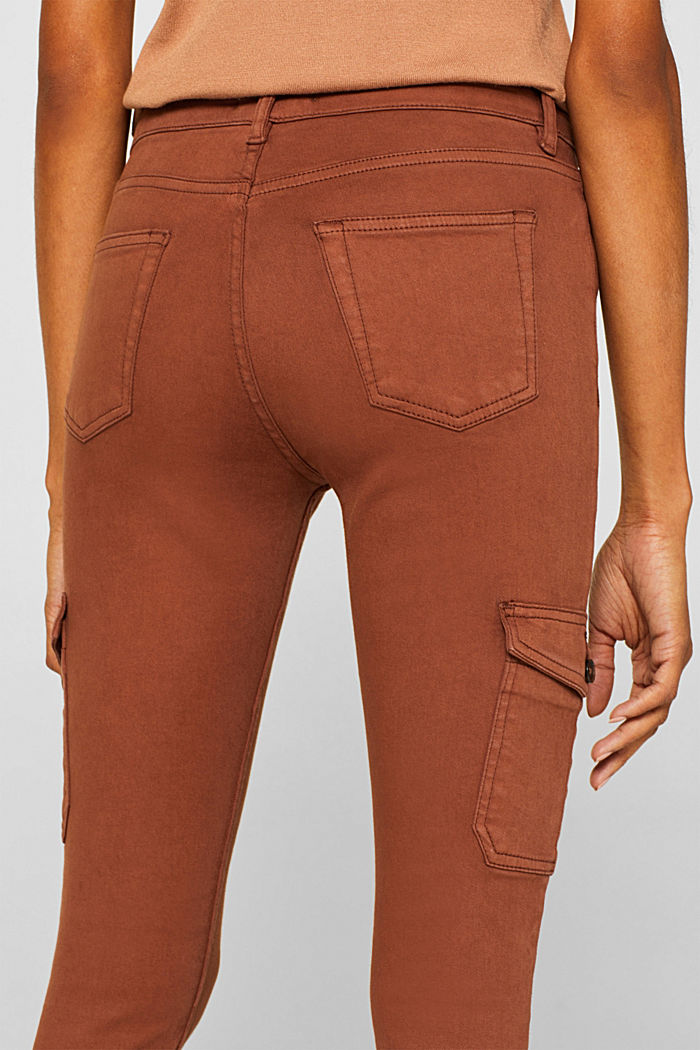 Shaping jeans with cargo pockets, CAMEL, detail image number 2