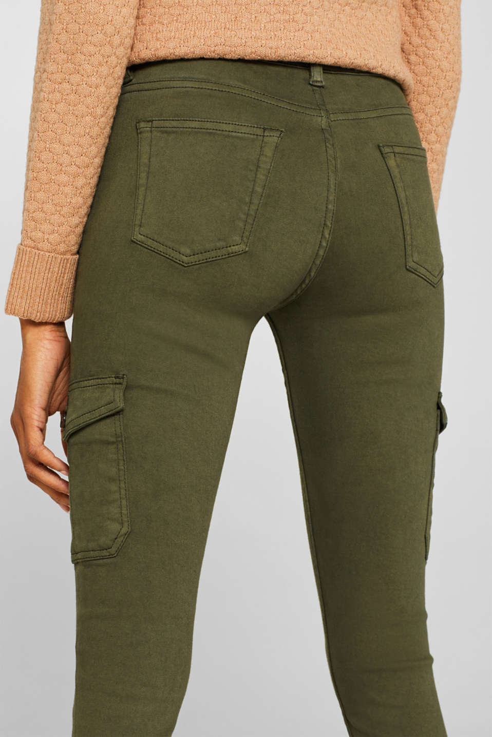 Pants woven, KHAKI GREEN, detail image number 2