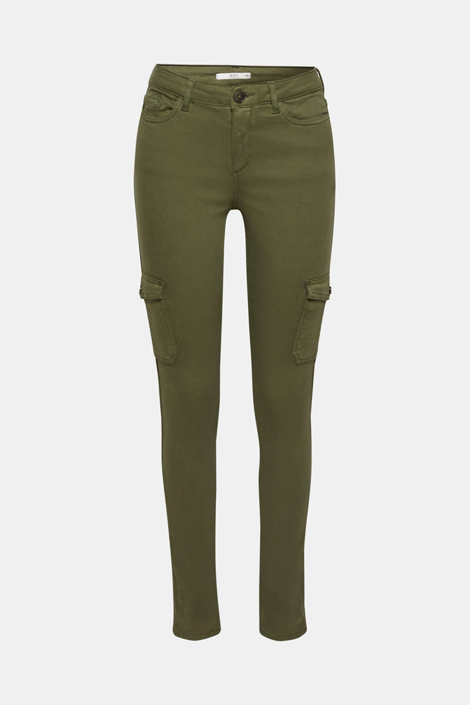 Pants woven, KHAKI GREEN, detail image number 8