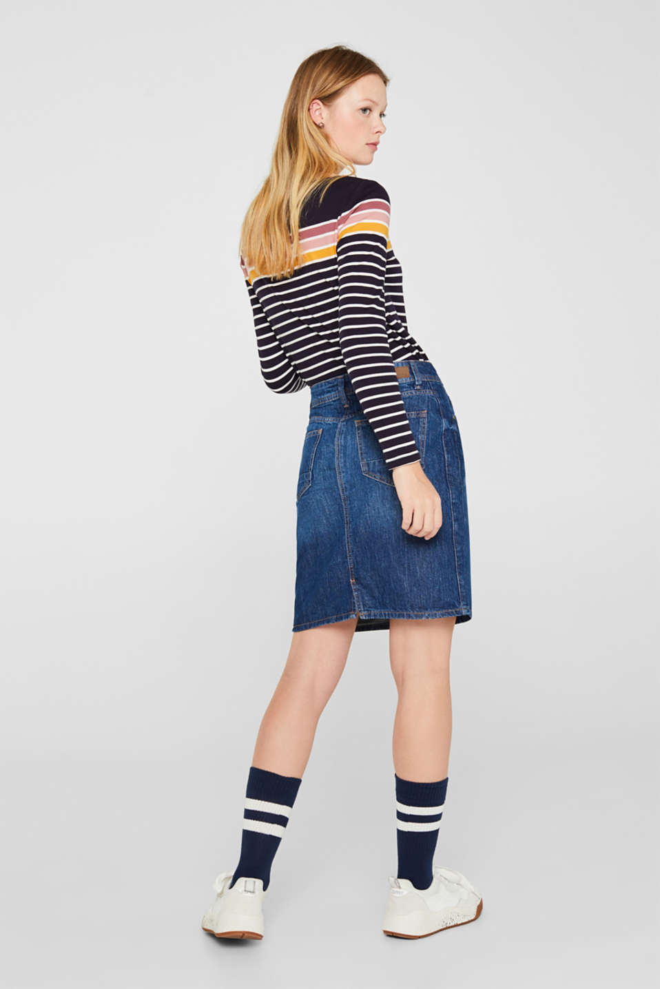 Skirts denim, BLUE DARK WASH, detail image number 3