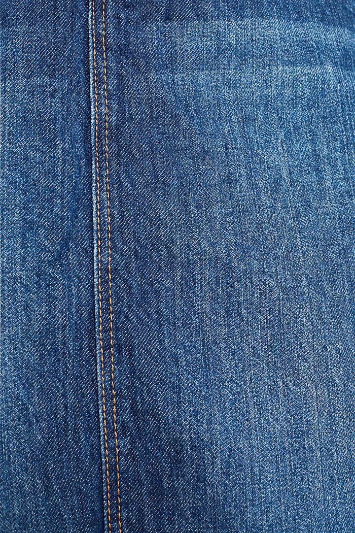 Denim skirt with a garment wash, BLUE DARK WASHED, detail image number 3