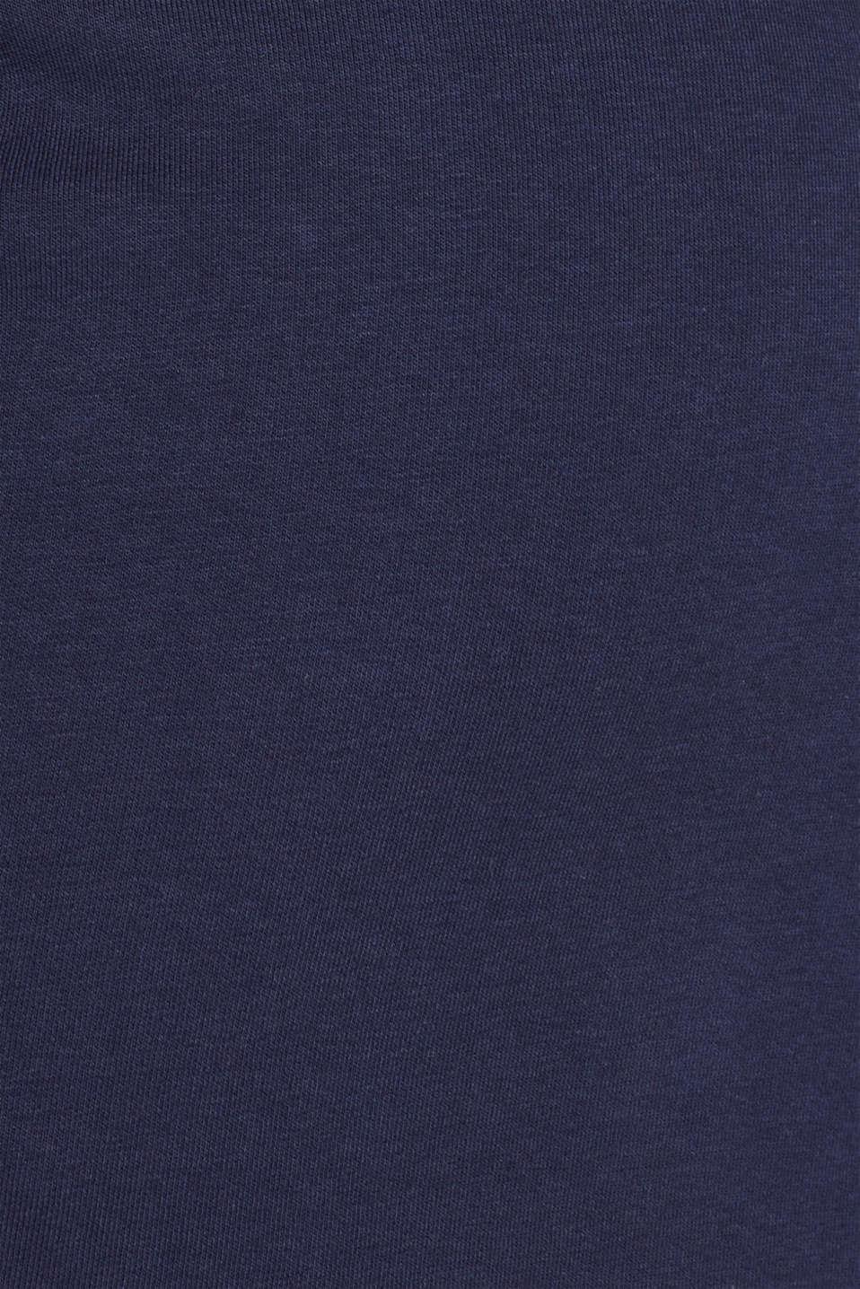 Sweatshirt skirt with racing stripes, NAVY, detail image number 4