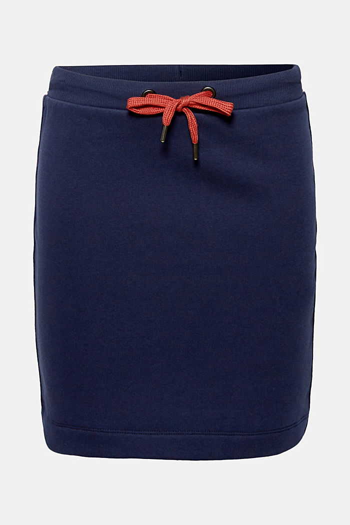 Sweatshirt skirt with racing stripes, NAVY, detail image number 6