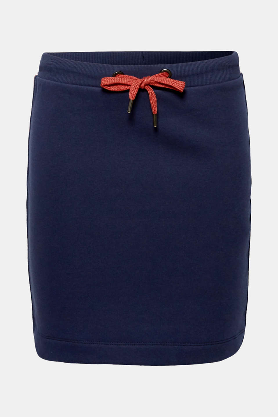 Sweatshirt skirt with racing stripes, NAVY, detail image number 6