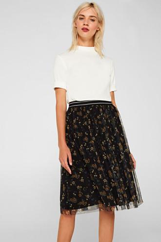 Mesh skirt with an elasticated waistband