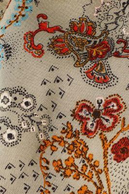 Printed skirt with an elasticated waistband, PALE KHAKI, detail