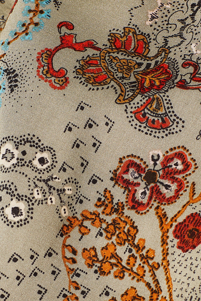 Printed skirt with an elasticated waistband, PALE KHAKI, detail image number 4