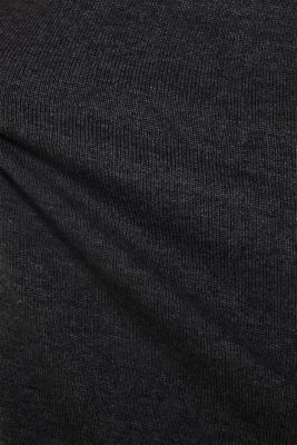 Basic knit dress with rolled edge, DARK GREY 5, detail