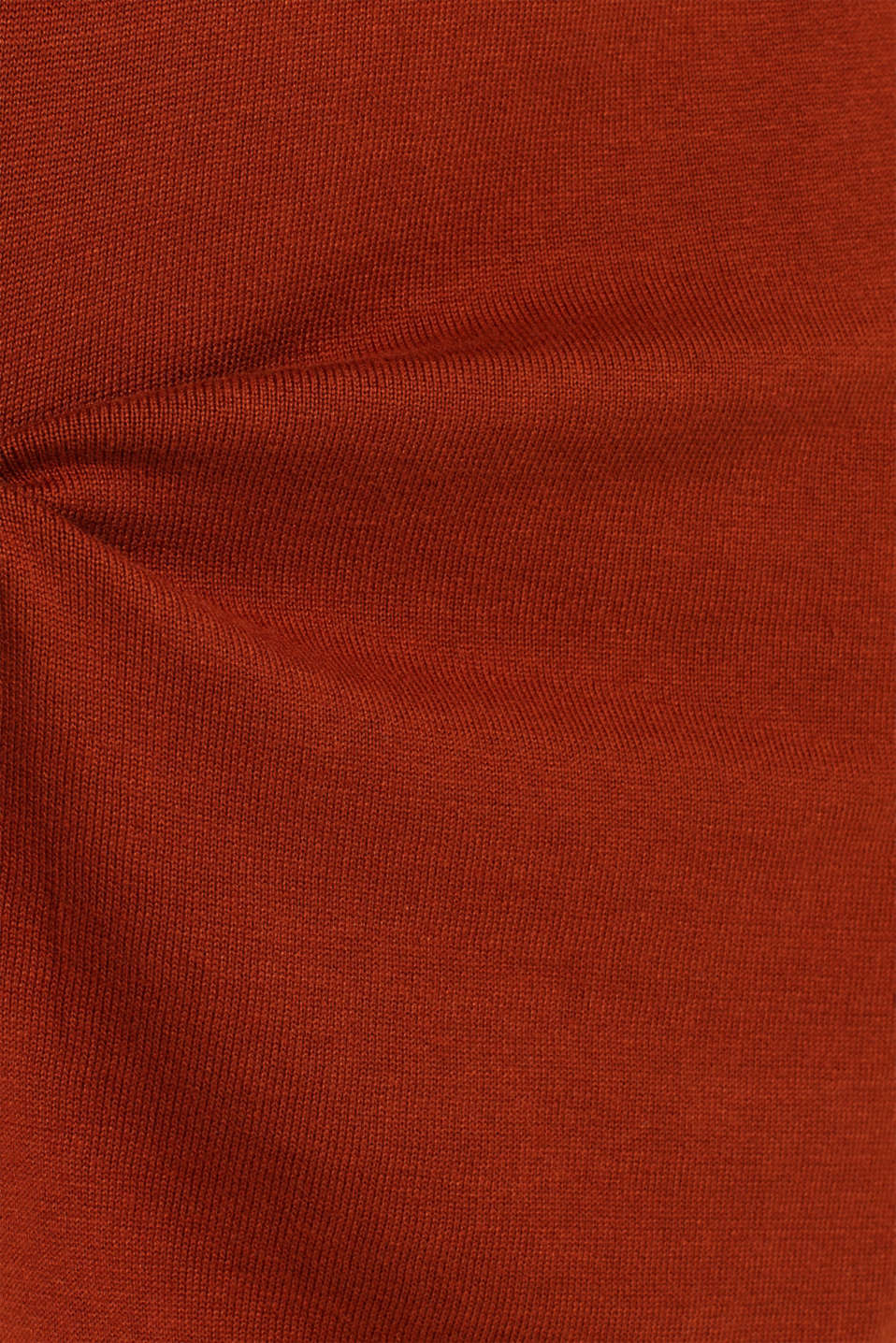 Basic knit dress with rolled edge, RUST BROWN 5, detail image number 5
