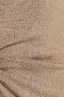 Basic knit dress with rolled edge, TAUPE 5, detail