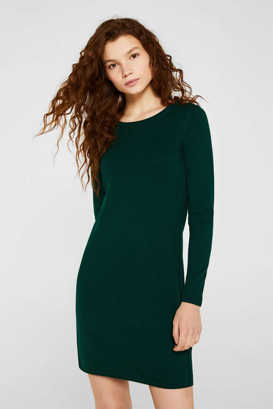 edc - Basic knit dress with rolled edge