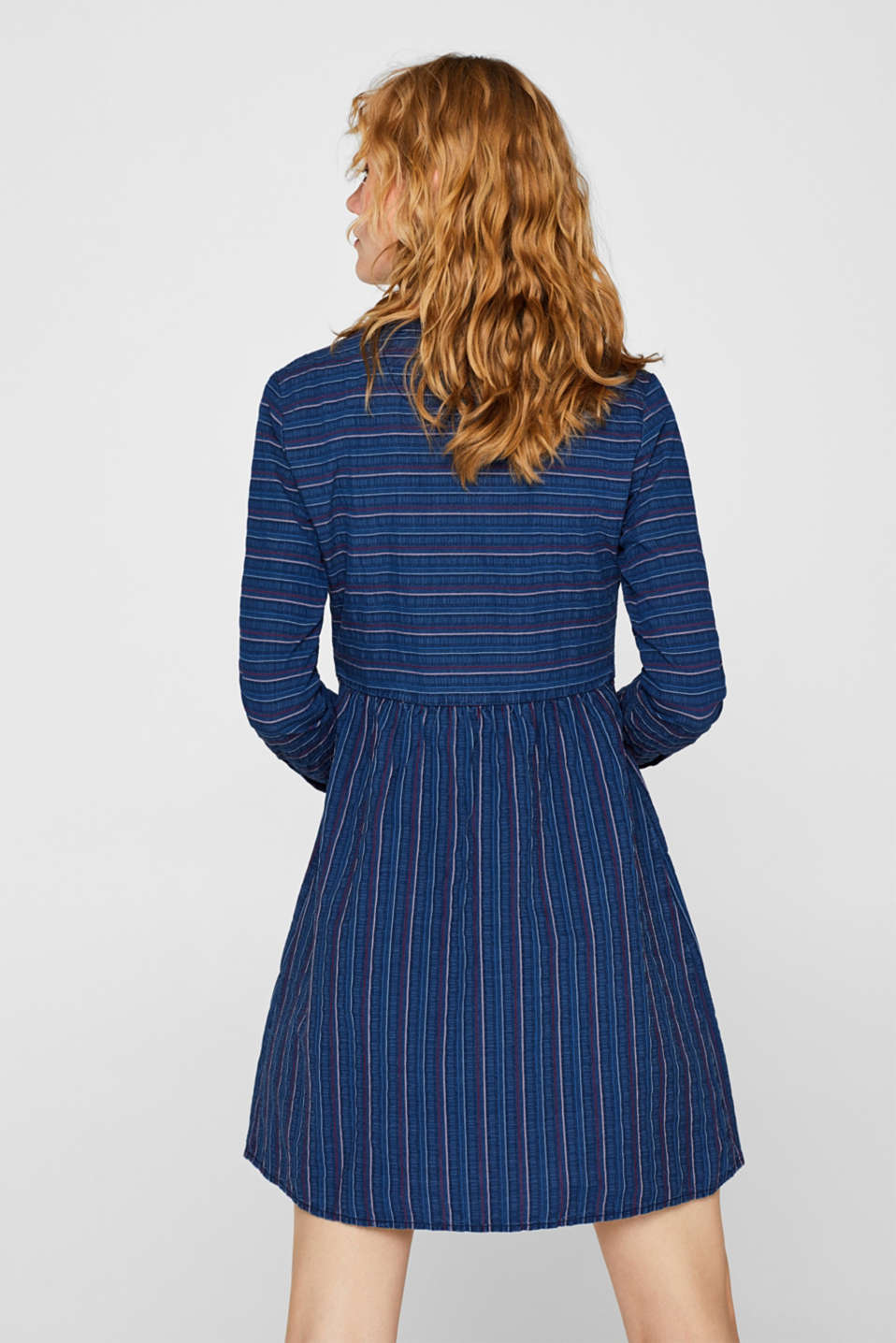 An everyday dress in a striped denim effect, BLUE MEDIUM WASH, detail image number 2