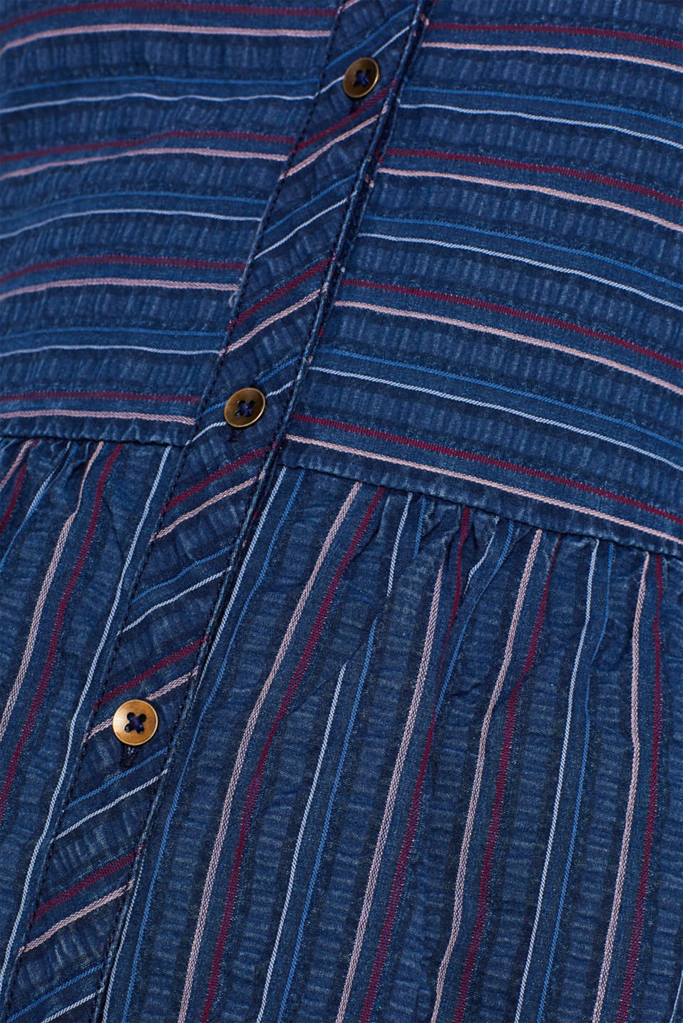 An everyday dress in a striped denim effect, BLUE MEDIUM WASH, detail image number 4