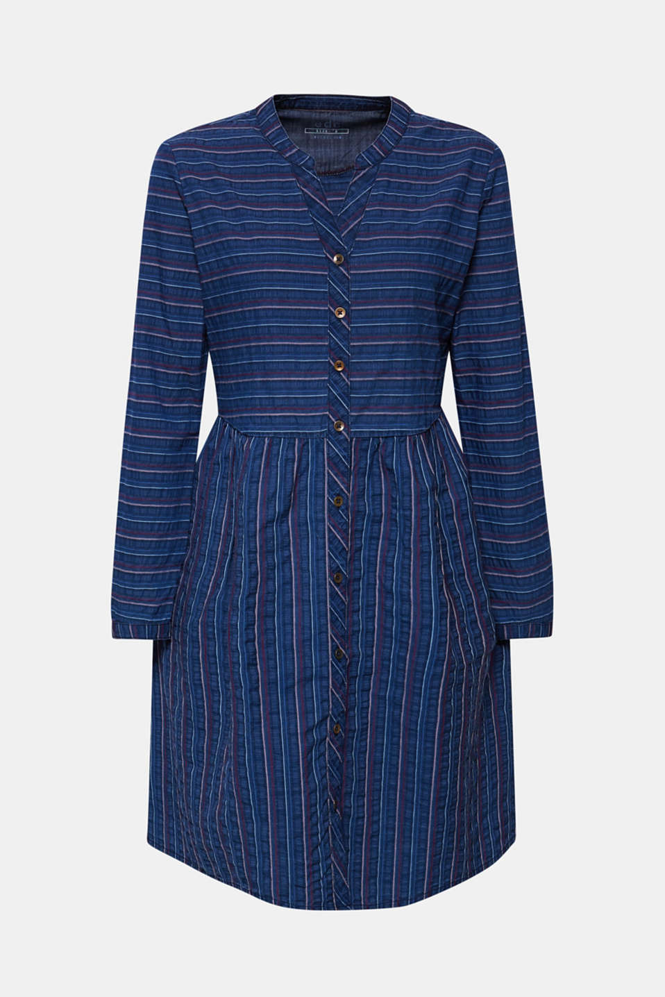 An everyday dress in a striped denim effect, BLUE MEDIUM WASH, detail image number 6