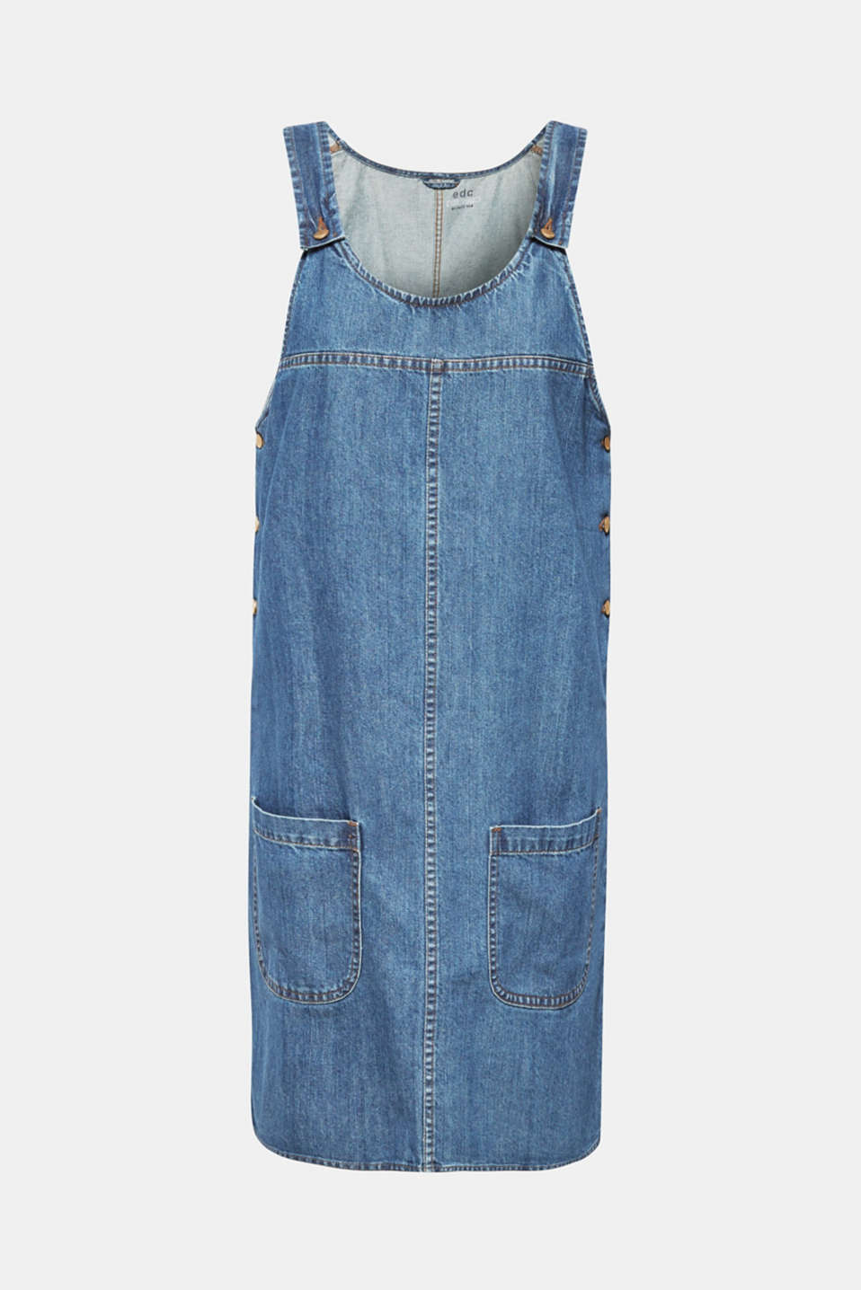 Denim dungaree dress, 100% cotton, BLUE MEDIUM WASH, detail image number 9