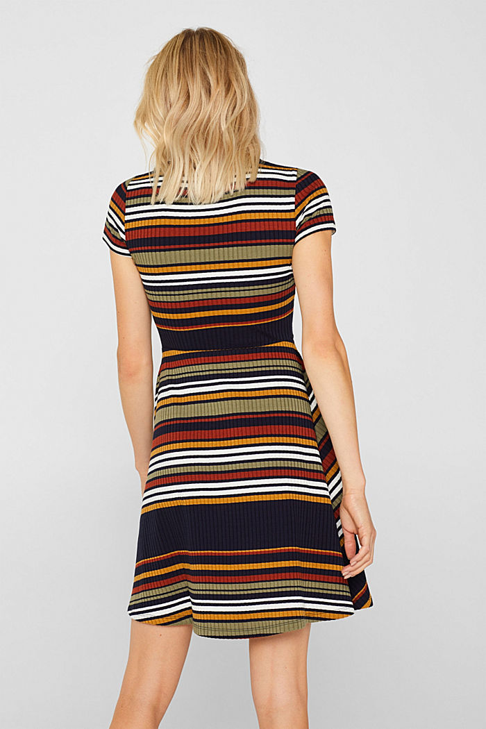 Knit dress with stripes, NAVY, detail image number 2