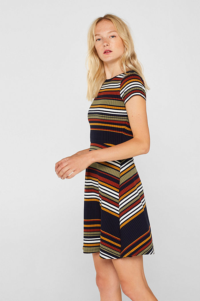Knit dress with stripes, NAVY, detail image number 5