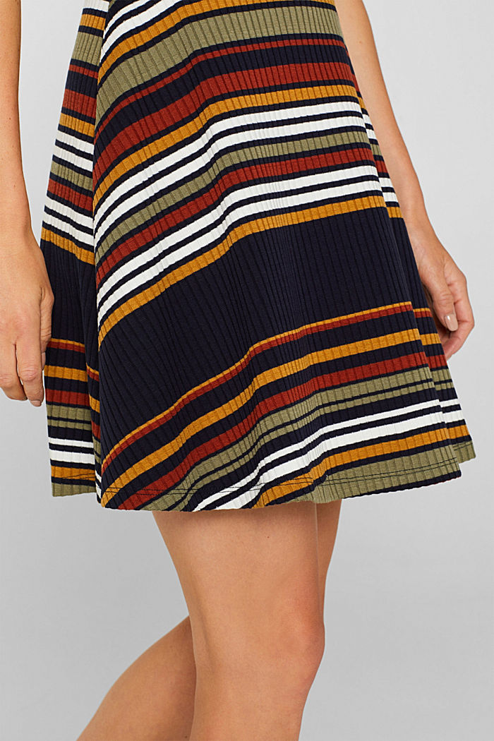 Knit dress with stripes, NAVY, detail image number 3