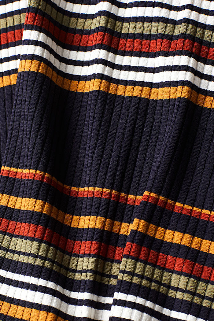 Knit dress with stripes, NAVY, detail image number 4