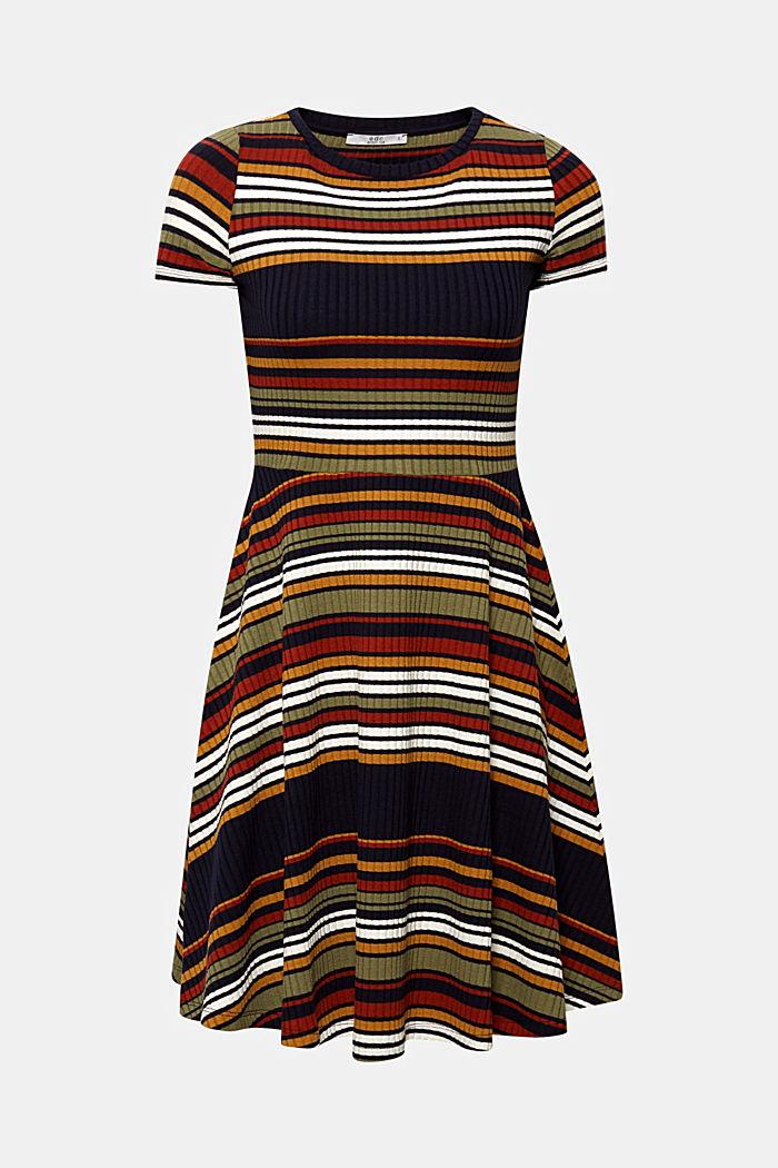 Strick-Kleid mit Streifen, NAVY, detail image number 1