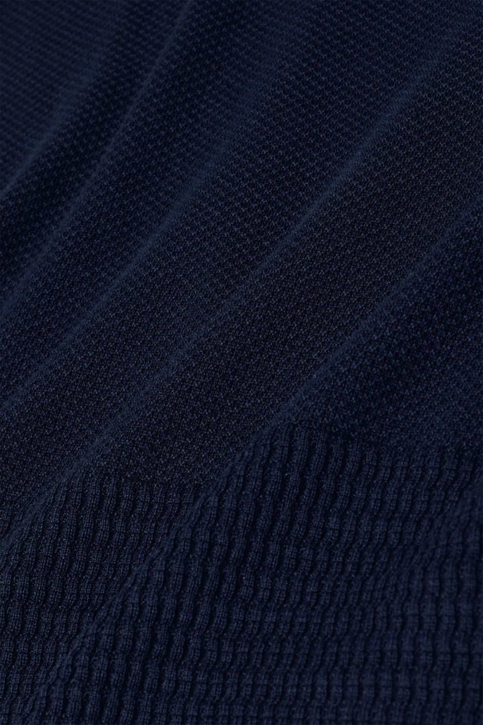 Textured knitted dress with organic cotton, NAVY 2, detail image number 3