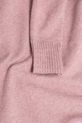 Textured knitted dress with organic cotton, MAUVE 5, detail