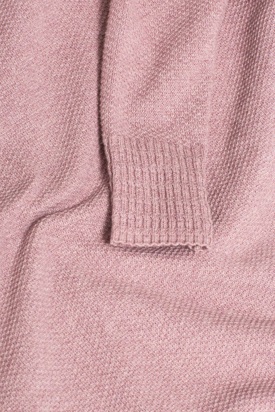 Textured knitted dress with organic cotton, MAUVE 5, detail image number 4