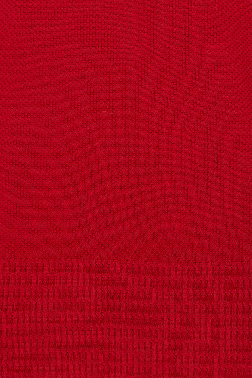 Textured knitted dress with organic cotton, RED, detail image number 4
