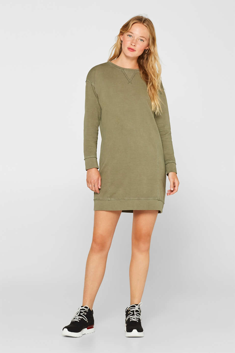 Dresses knitted, KHAKI GREEN, detail image number 1