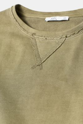 Washed-effect sweatshirt dress, 100% cotton