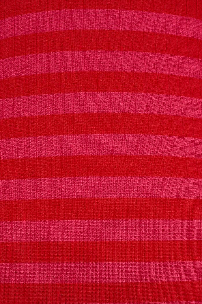 Stretch-Kleid mit Rippstruktur, PINK FUCHSIA, detail image number 5