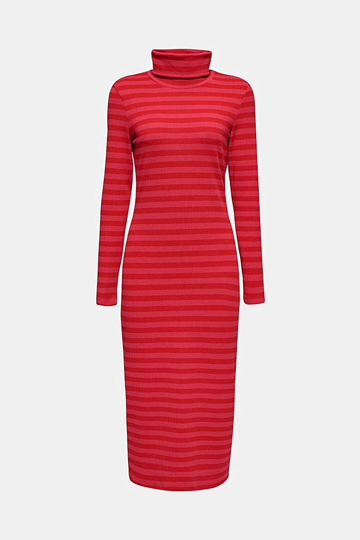 Stretch-Kleid mit Rippstruktur, PINK FUCHSIA, detail image number 6