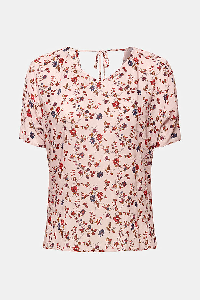 Blouse top with a fine print, LIGHT PINK, detail image number 0