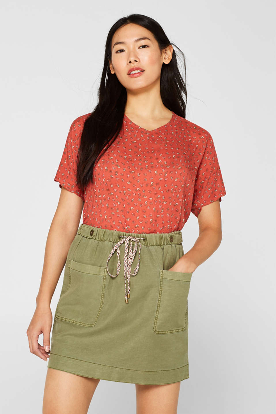 edc - Blouse top with a fine print