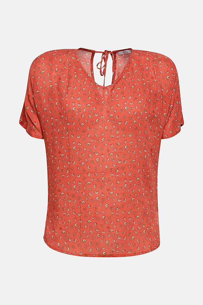 Blouse top with a fine print