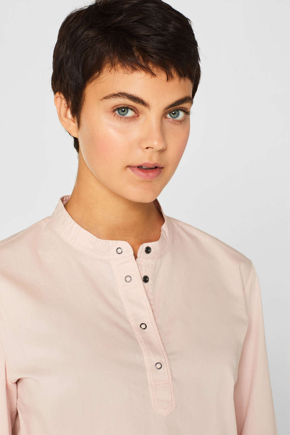 Shirt blouse with organic cotton, OLD PINK, detail image number 5