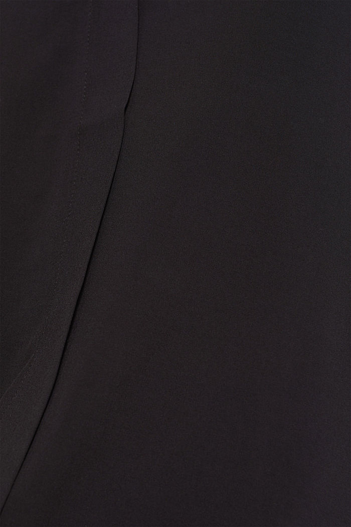 Blouse with front placket and three-quarter length sleeves, BLACK, detail image number 4