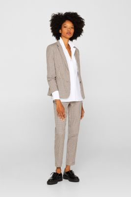 Slip-on blouse with a lapel collar, 100% cotton, WHITE, detail