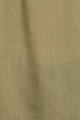 Blouse made of a material mix, KHAKI GREEN, detail