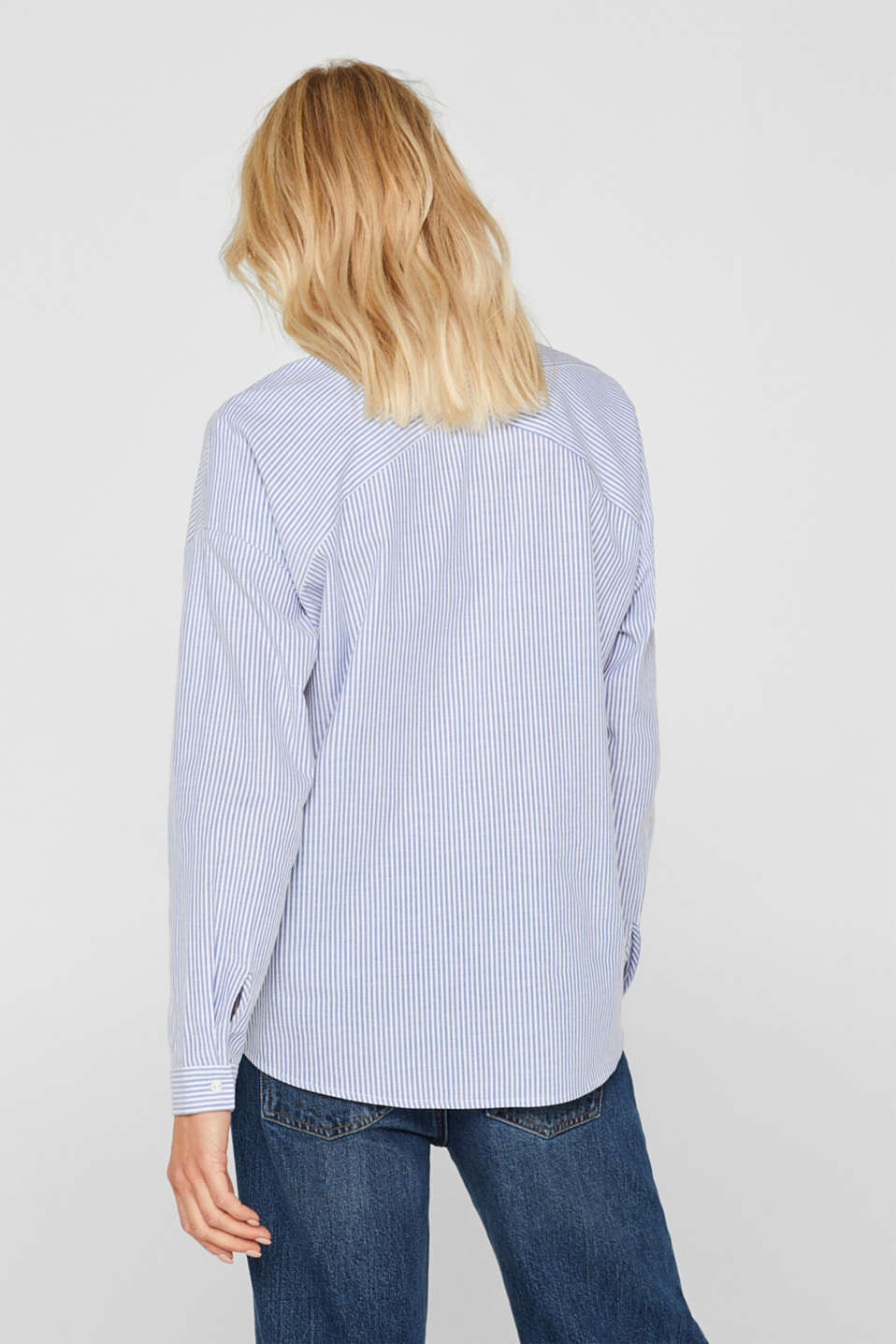 Striped shirt made of 100% cotton, LIGHT BLUE, detail image number 3