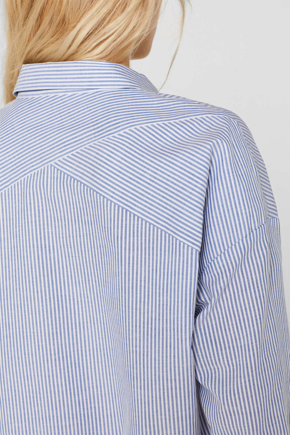 Striped shirt made of 100% cotton, LIGHT BLUE, detail image number 5