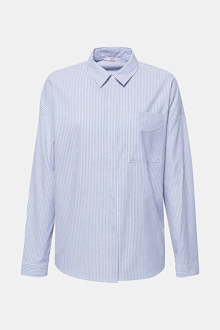Gestreept overhemd van 100% katoen, LIGHT BLUE, detail image number 0