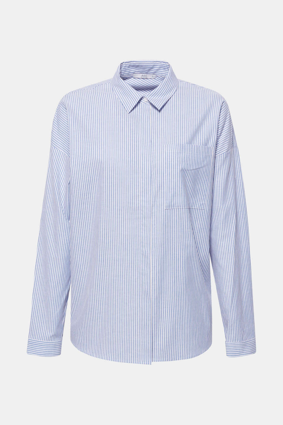 Striped shirt made of 100% cotton, LIGHT BLUE, detail image number 7