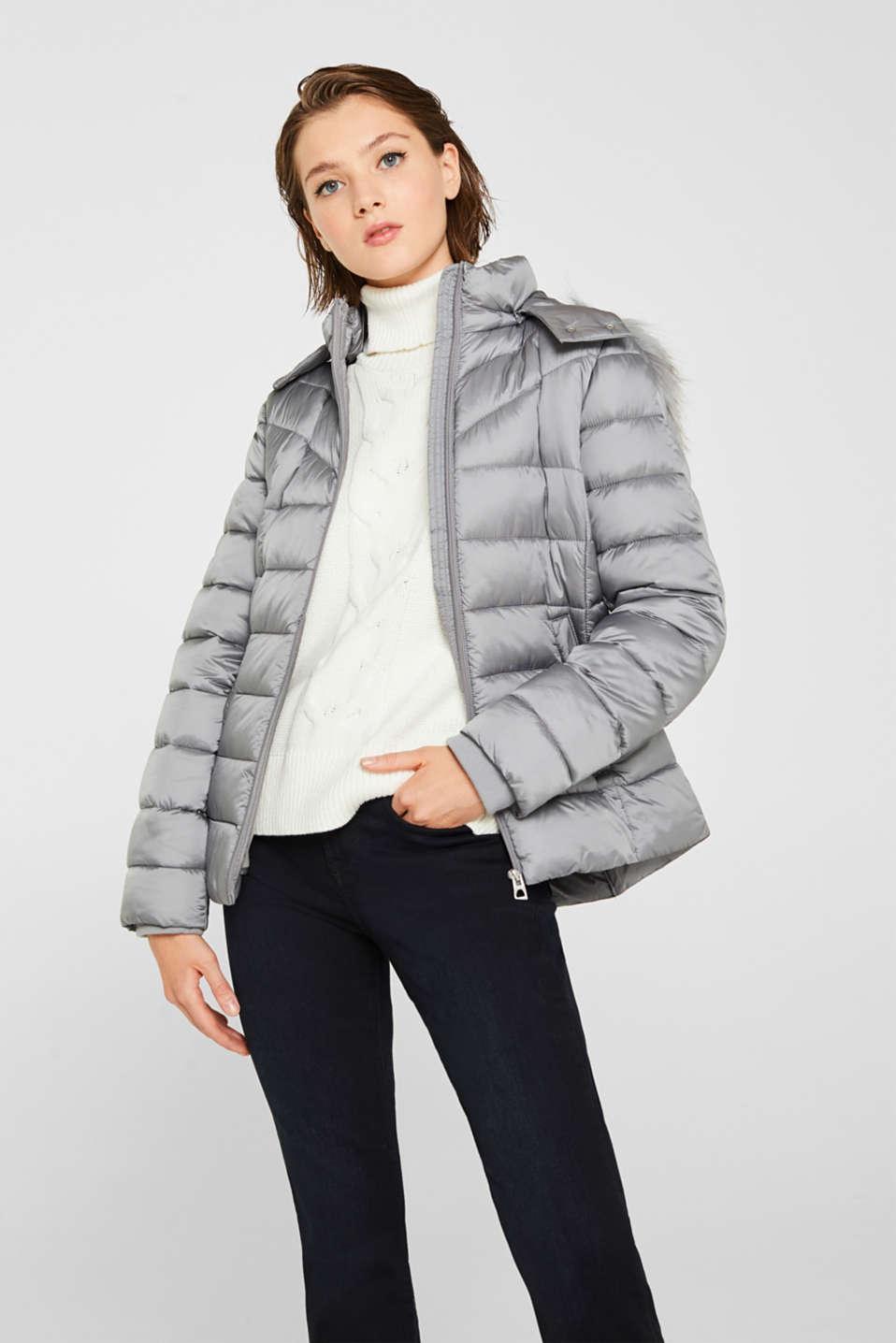 edc Gewatteerde jas met capuchon en 3M™ Thinsulate